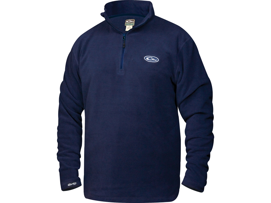 Drake Men's Camp Fleece 1/4 Zip Pullover Polyester