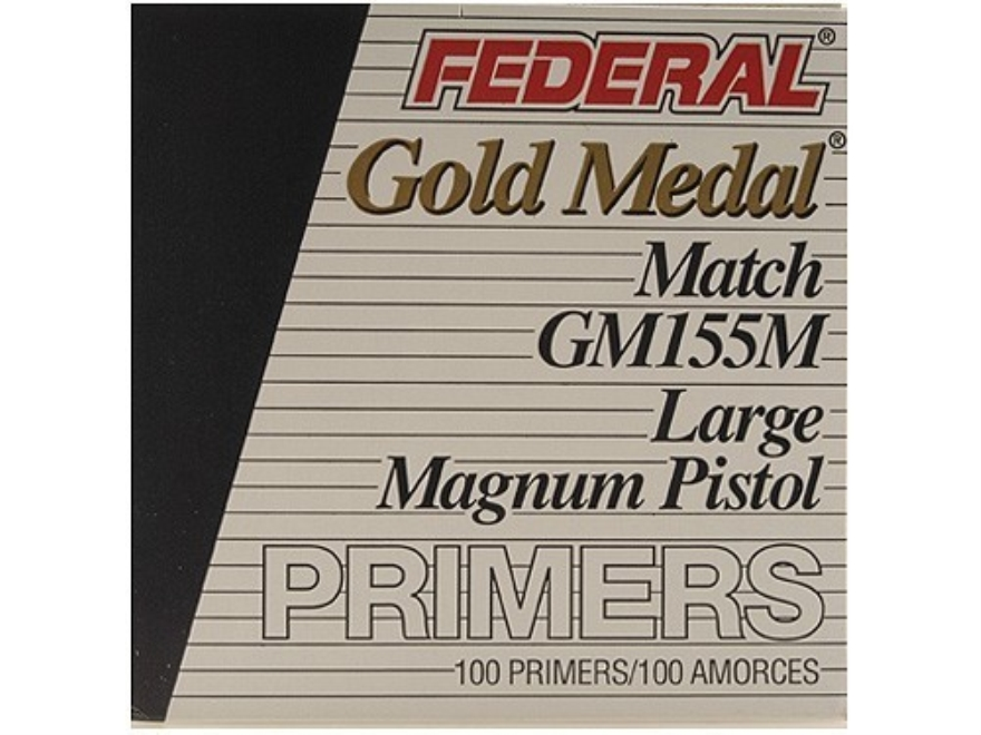 Federal Premium Gold Medal Large Pistol Magnum Match Primers #155M