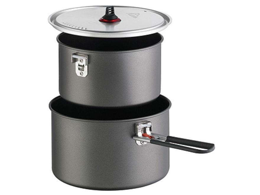 MSR Base 2 Pot Camp Cooking Set Aluminum
