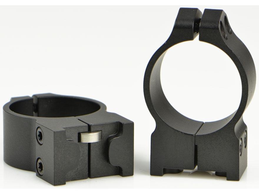 Warne Permanent-Attachable Ring Mounts Ruger #1, Mini-14/30, Blackhawk Matte