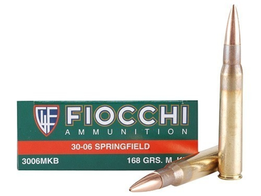 Fiocchi Exacta Ammunition 30-06 Springfield 168 Grain Sierra MatchKing Hollow Point Box...