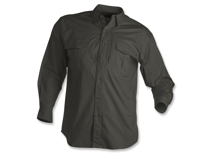 Browning Black Label Tactical Long Sleeve Shirt Cotton and Spandex Black Large