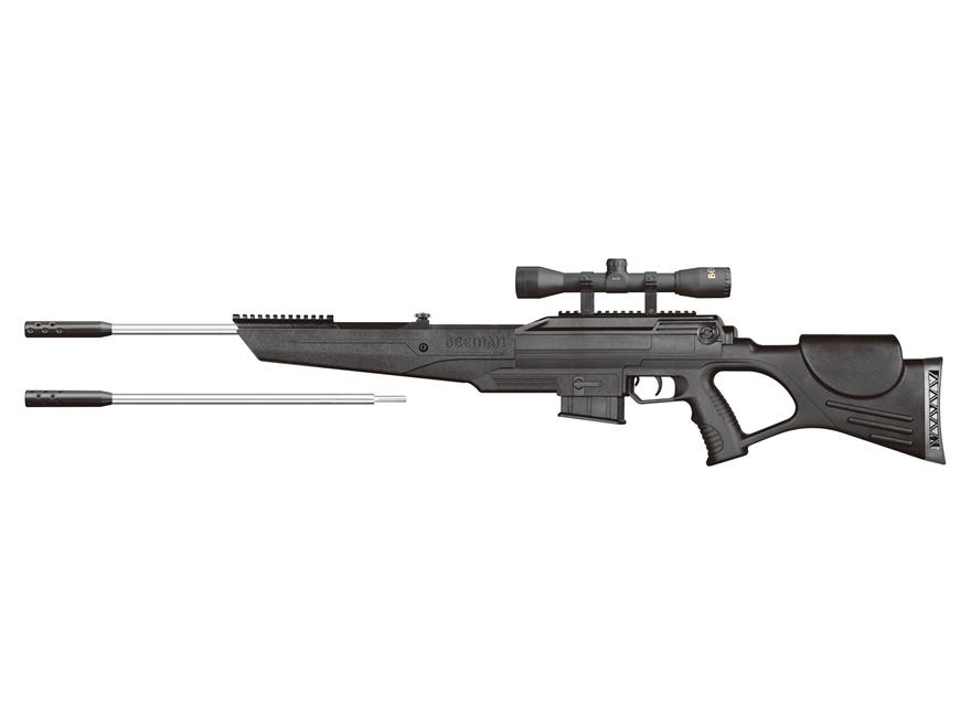 Beeman Bison DC Break Barrel Air Rifle 177 & 22 Caliber Pellet Black Synthetic Stock St...