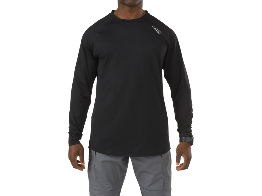 5.11 Men's Sub-Z Crew Crew Base Layer Shirt Long Sleeve Synthetic Blend Black Large