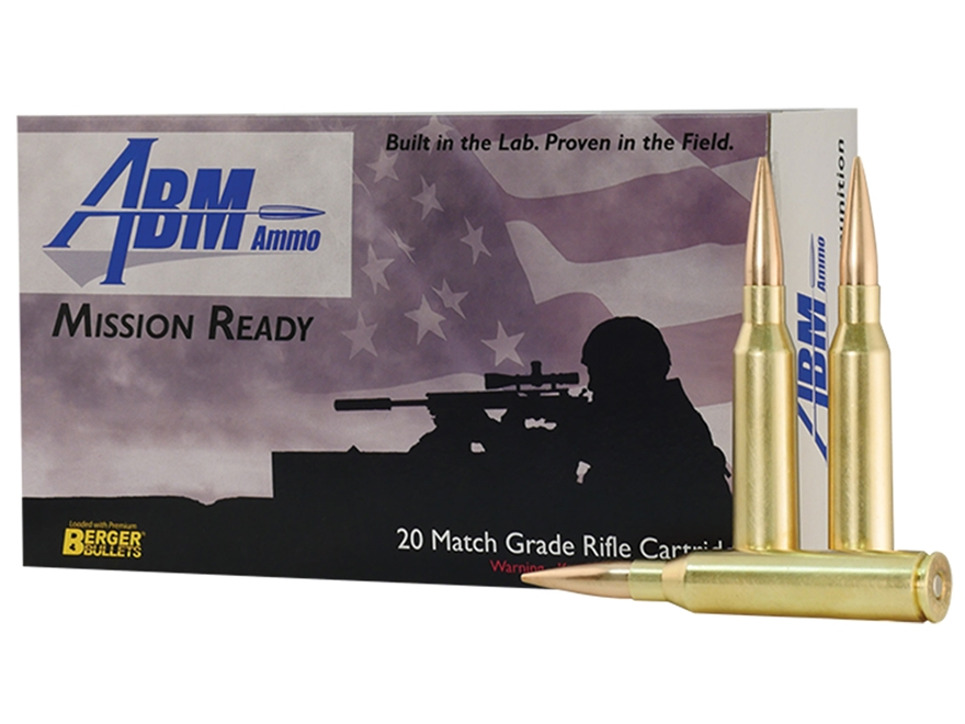 ABM Mission Ready-Tactical Ammunition 338 Lapua Magnum 300 Grain Berger Match Hybrid OT...