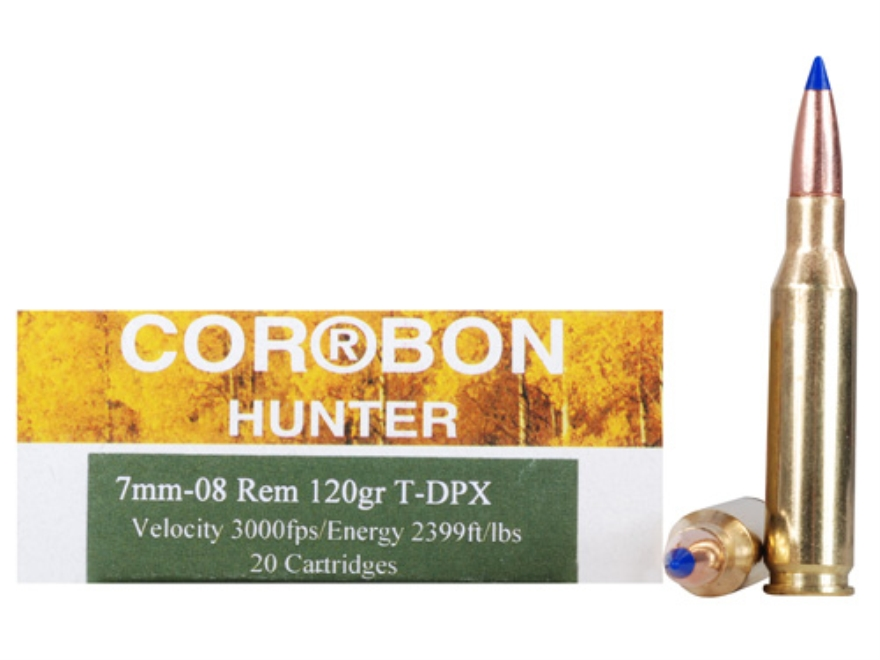 Cor-Bon DPX Hunter Ammunition 7mm-08 Remington 120 Grain Barnes Tipped Triple-Shock X B...