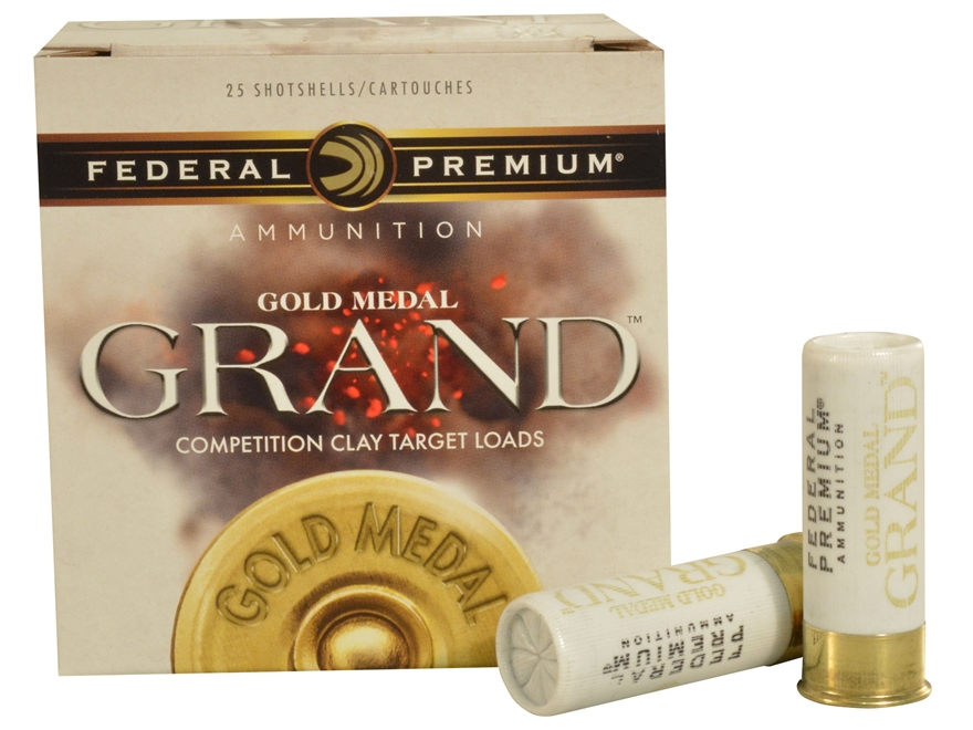 "Federal Premium Gold Medal Grand Xtra-Lite Ammunition 12 Gauge 2-3/4"" 1-1/8 oz #8 Shot"