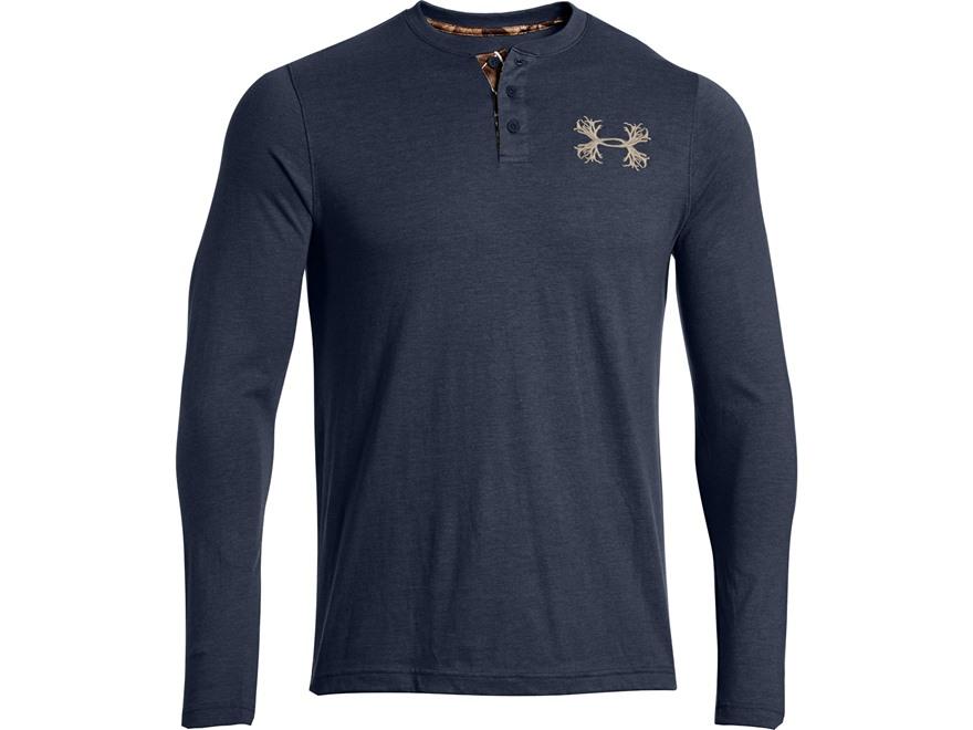 Under armour men 39 s borderland henley shirt long upc for Mens xl tall henley shirts