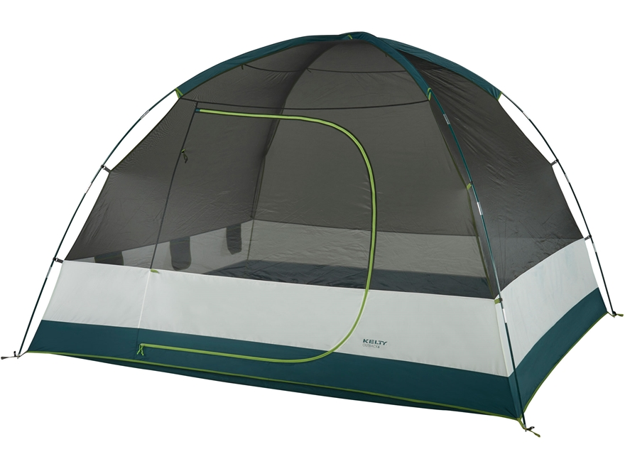 """Kelty Outback 6 Person Dome Tent 118"""" x 106"""" x 76"""" Polyester Gray"""