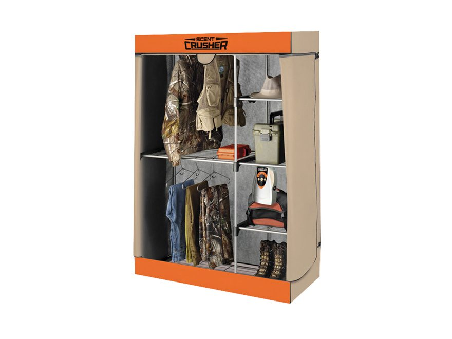 Scent Crusher Hunter's Closet Scent Elimination Device Tan and Orange
