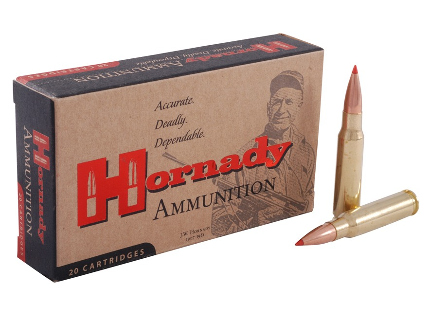 Hornady Match Ammunition 308 Winchester 168 Grain A-Max Boat Tail Box of 20