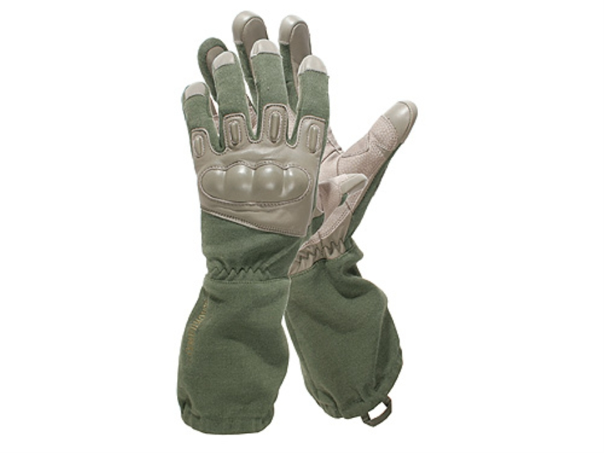 BLACKHAWK! Fury  HD Gloves Leather Nylon and Kevlar Olive Drab Medium