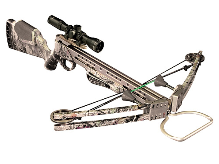 Horton Team Realtree TRT 175 Crossbow Package with 4x 32mm Mult-A-Range Scope Realtree ...