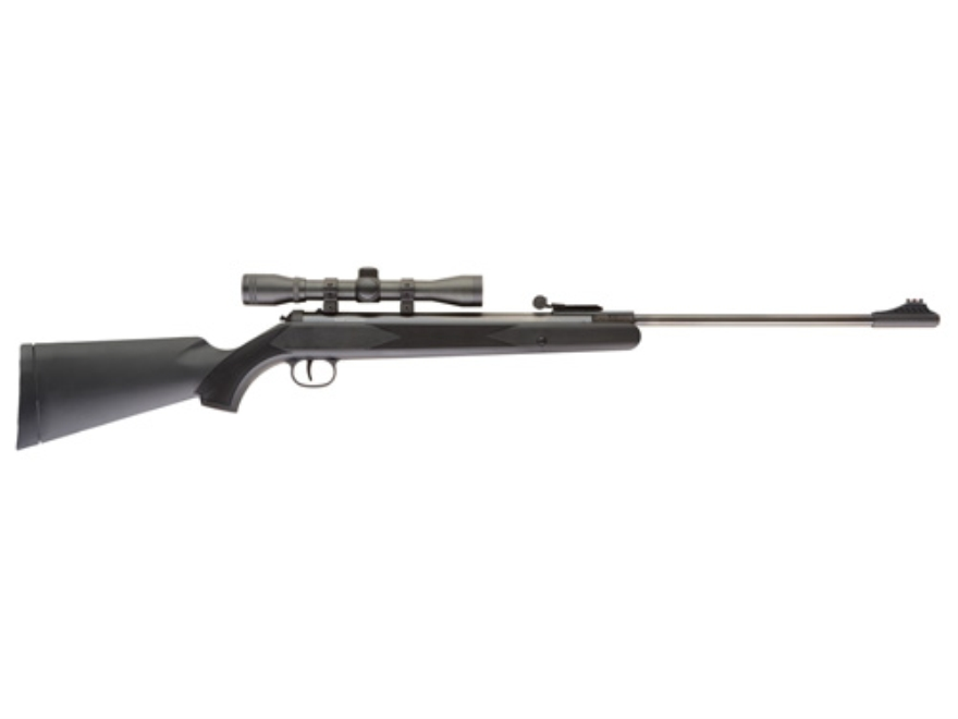 Ruger Blackhawk Break Barrel Air Rifle 177 Caliber Pellet Black Polymer Stock Matte Bar...