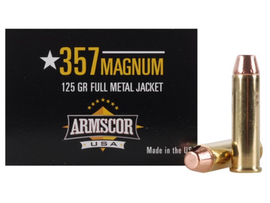 Armscor Ammunition 357 Magnum 125 Grain Full Metal Jacket Box of 50