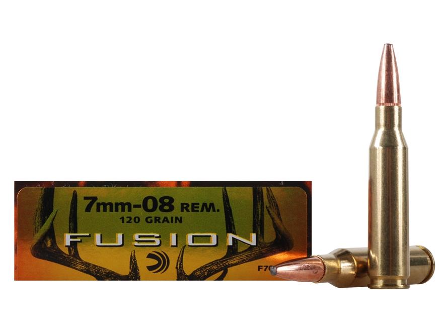 Federal Fusion Ammunition 7mm-08 Remington 120 Grain Spitzer Boat Tail
