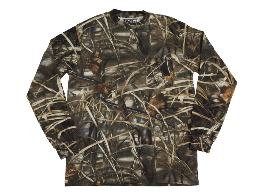 Walls Legend Men's Pocket T-Shirt Long Sleeve Cotton Realtree Max-4 Camo Large 42-44