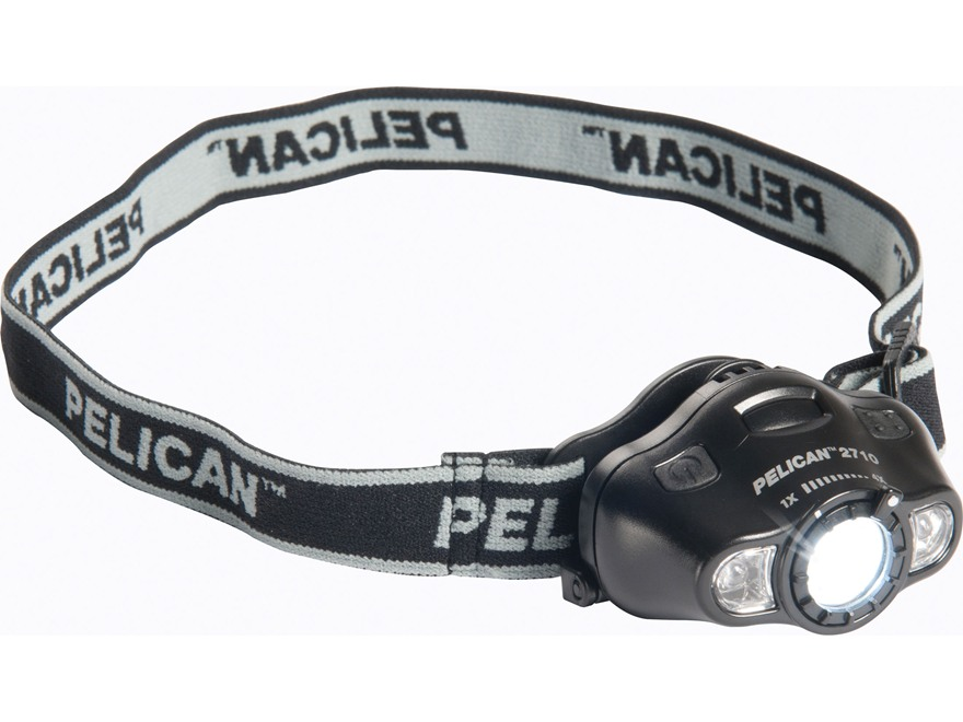 Pelican 2710 Headlamp White, Green, and Red LED Bulb Polymer Black