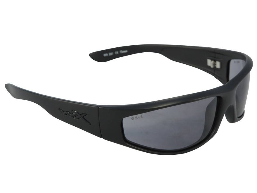 Wiley X Black Ops Revolvr Shooting Safety Glasses Matte Black Frame Smoke Gray Lens