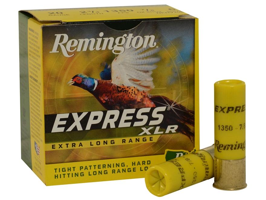 "Remington Express Extra Long Range Ammunition 20 Gauge 2-3/4"" 7/8 oz #7-1/2 Shot Box of 25"