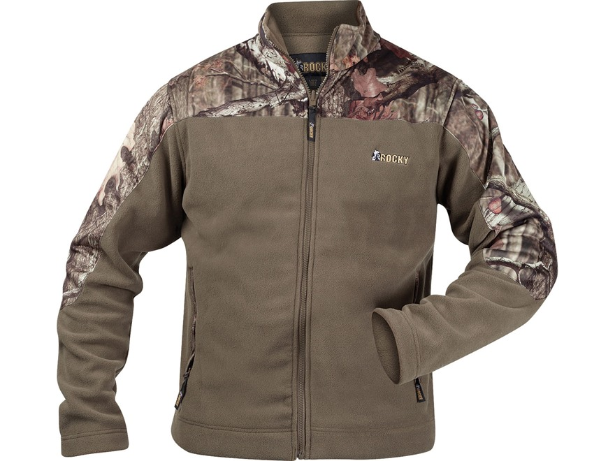 Rocky Men's Fleece Jacket Polyester Mossy Oak - UPC: 885192896231