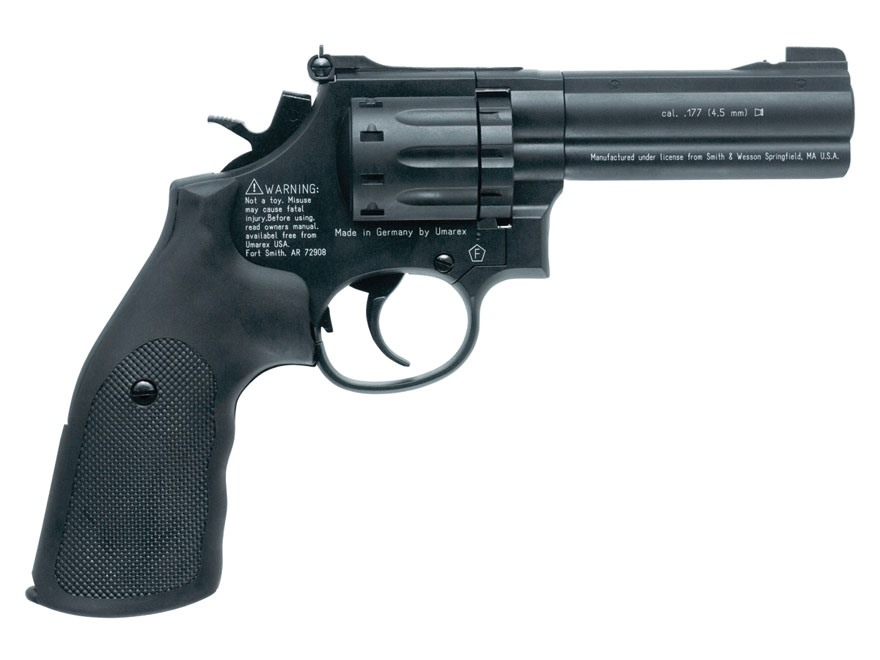 "Smith & Wesson 586 Air Pistol 4"" Barrel 177 Caliber Pellet Black"