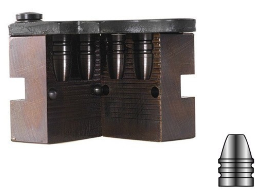Lyman 2-Cavity Bullet Mold #427098 44-40 WCF (428 Diameter) 205 Grain Flat Nose