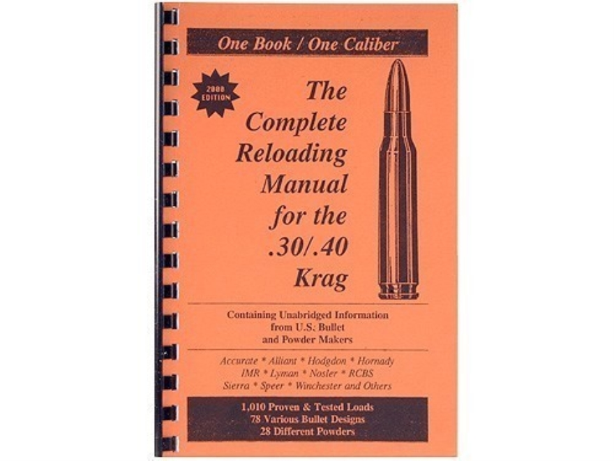 "Loadbooks USA ""30-40 Krag"" Reloading Manual"