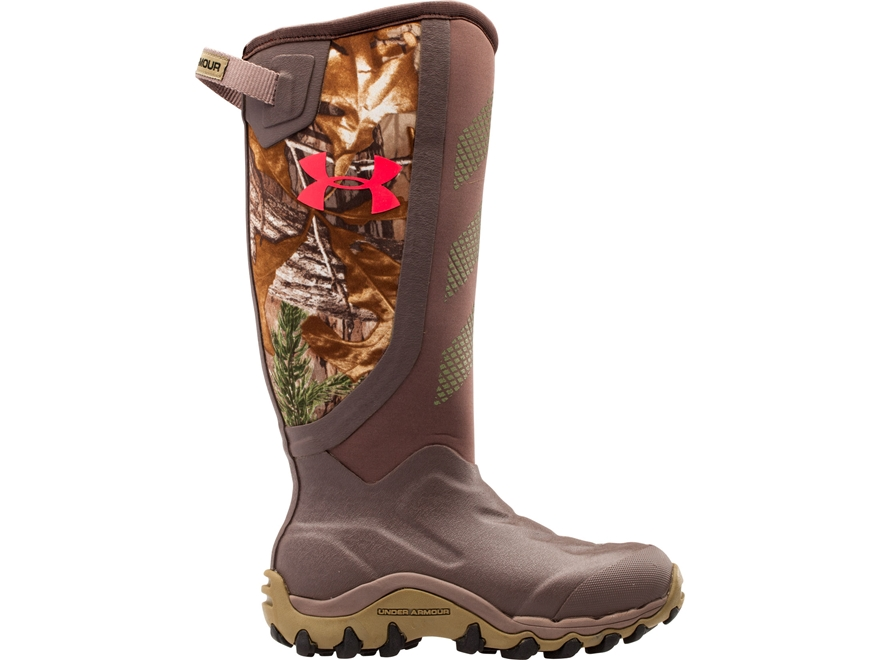"Under Armour UA Haw 2.0 16"" Uninsulated Waterproof Hunting Boots Rubber Realtree Xtra C..."