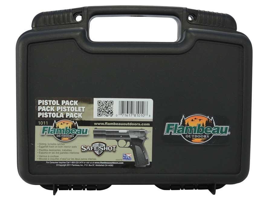 "Flambeau Safe Shot Pistol Case 10"" Black"
