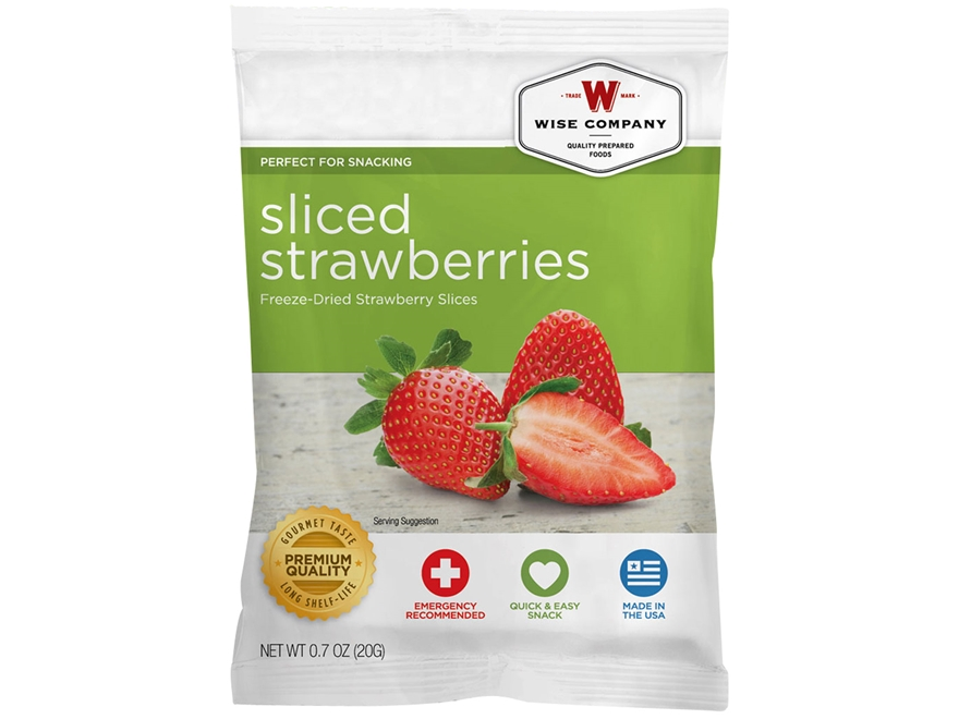 Wise Food Long Term 25 Year 4 Serving Strawberry Slices Freeze Dried Food