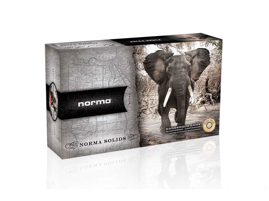 Norma Solid Ammunition 458 Winchester Magnum 500 Grain Solid Box of 10