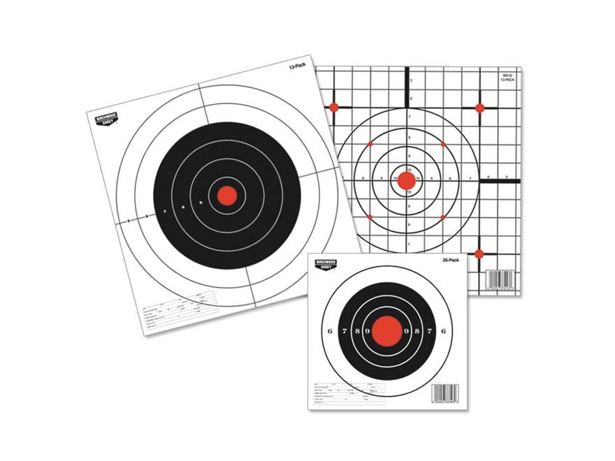 """Birchwood Casey Eze-Scorer 8"""" Bullseye Paper Targets Pack of 26"""