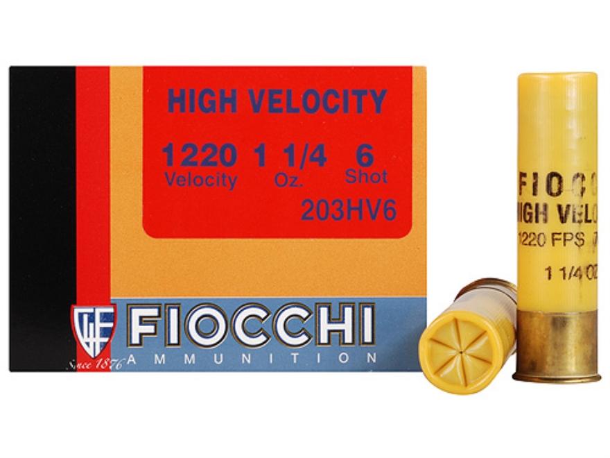"Fiocchi Shooting Dynamics High Velocity Ammunition 20 Gauge 3"" 1-1/4 oz #6 Shot Box of 25"