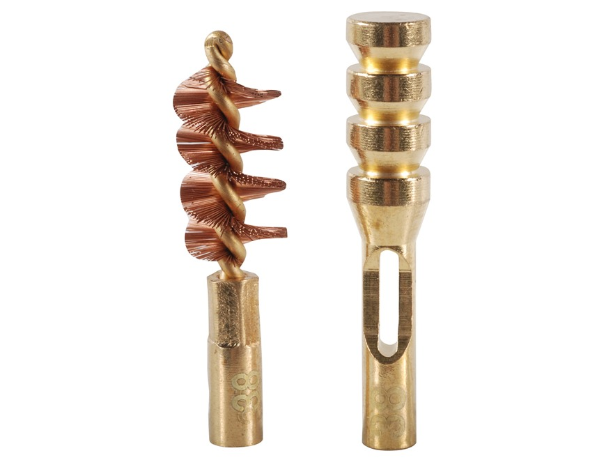 Real Avid ZipWire Pistol Cleaning Brush and Jag .38 Caliber Brass Combo Pack