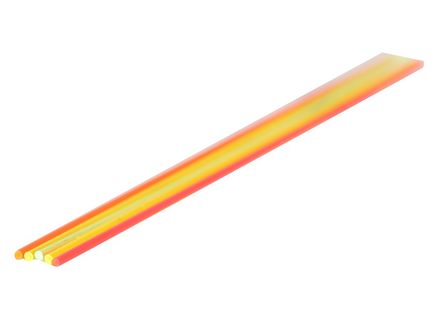 "TRUGLO Replacement Fiber Optic Rod 5.5"" x .060"" Green, Orange, Red, Ruby Red, Yellow Pa..."