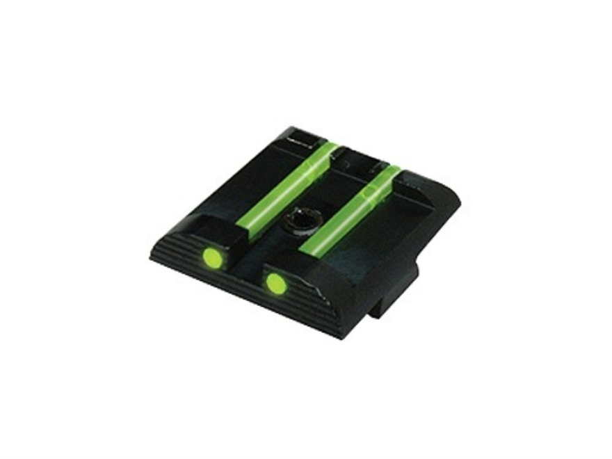 "HIVIZ Rear Sight Glock 9mm Luger, 40 S&W, 357 Sig Models .256"" Height Steel Fiber Optic..."
