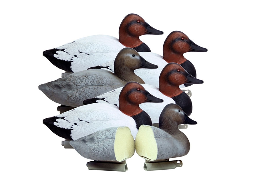 Higdon Battleship Foam Filled Canvasback Duck Decoy Polymer Pack of 6