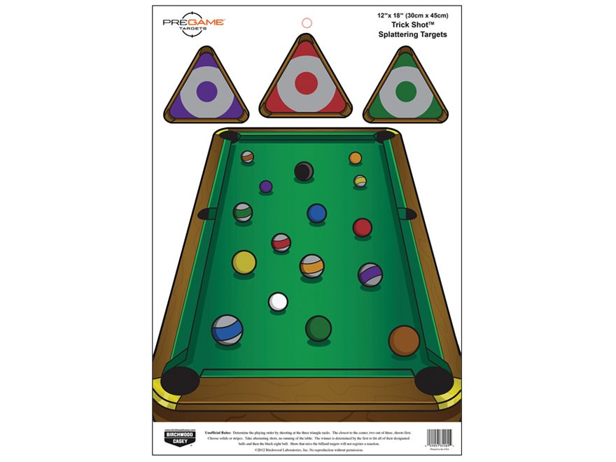 "Birchwood Casey PREGAME Trick Shot Reactive Target 12"" x 18"" Package of 8"