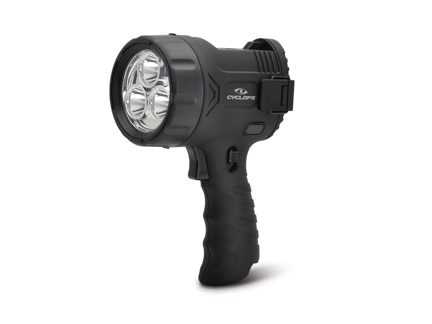 Cyclops Flare Sport Handheld Spotlight LED with 6 AA Battereis Polymer Black