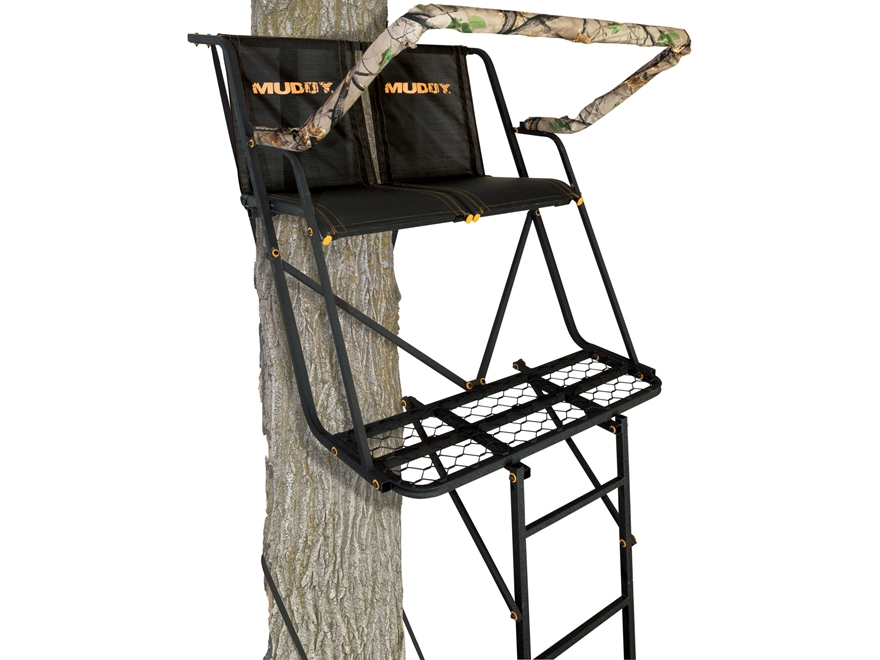 Muddy Outdoors The Side-Kick 16' Double Ladder Treestand Steel Black