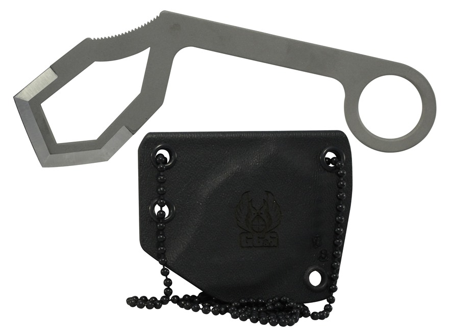 "GG&G Ghost Hawk Neck Knife 3.23"" Cutting Edge 440C Stainless Steel Blade Steel Handle"