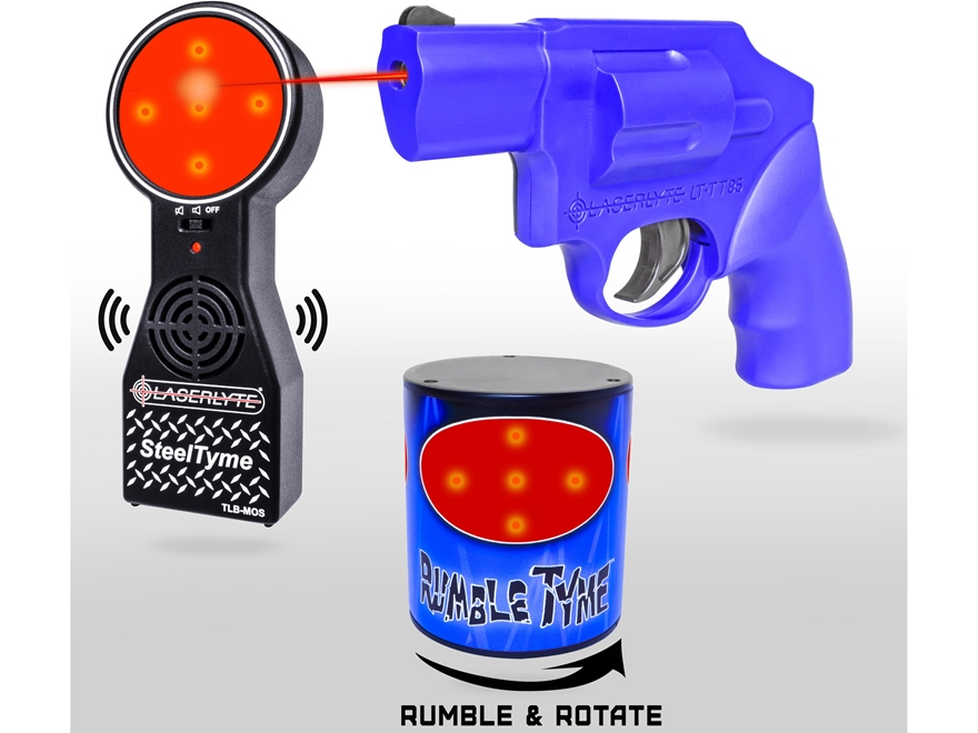 LaserLyte Rumble and Steel Tyme Kit with Rumble Tyme Target, Steel Tyme Target and Snub...