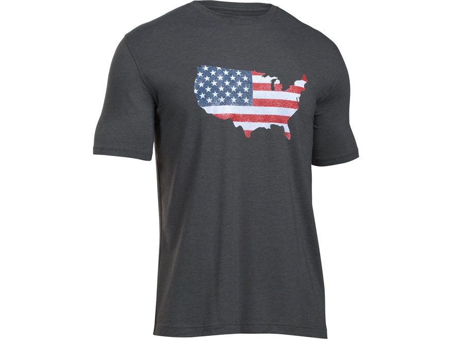Under Armour Men's UA Freedom Flag Map T-Shirt Short Sleeve Cotton and Polyester