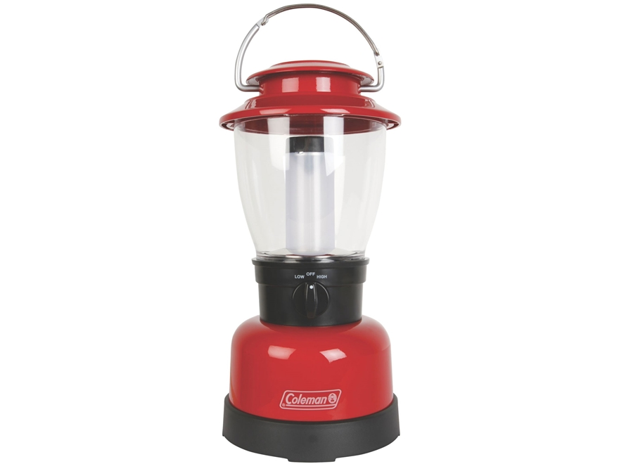 Coleman CPX 6 Classic Lantern LED with 4 D Batteries Polymer Red