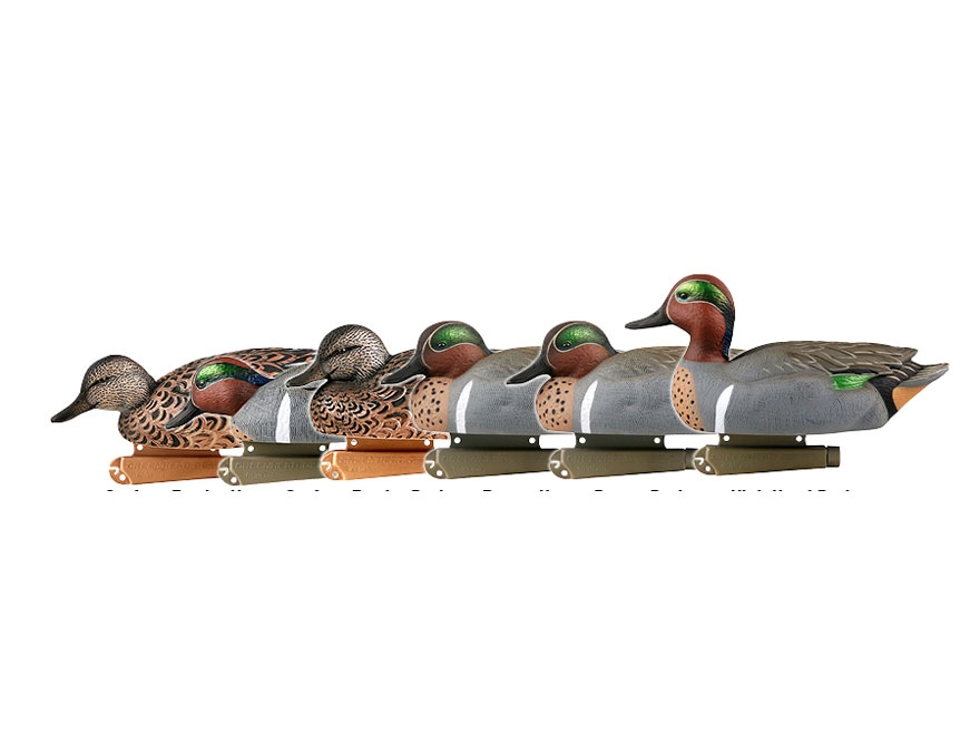 GHG Pro-Grade Green-Winged Teal Duck Decoy Pack of 6