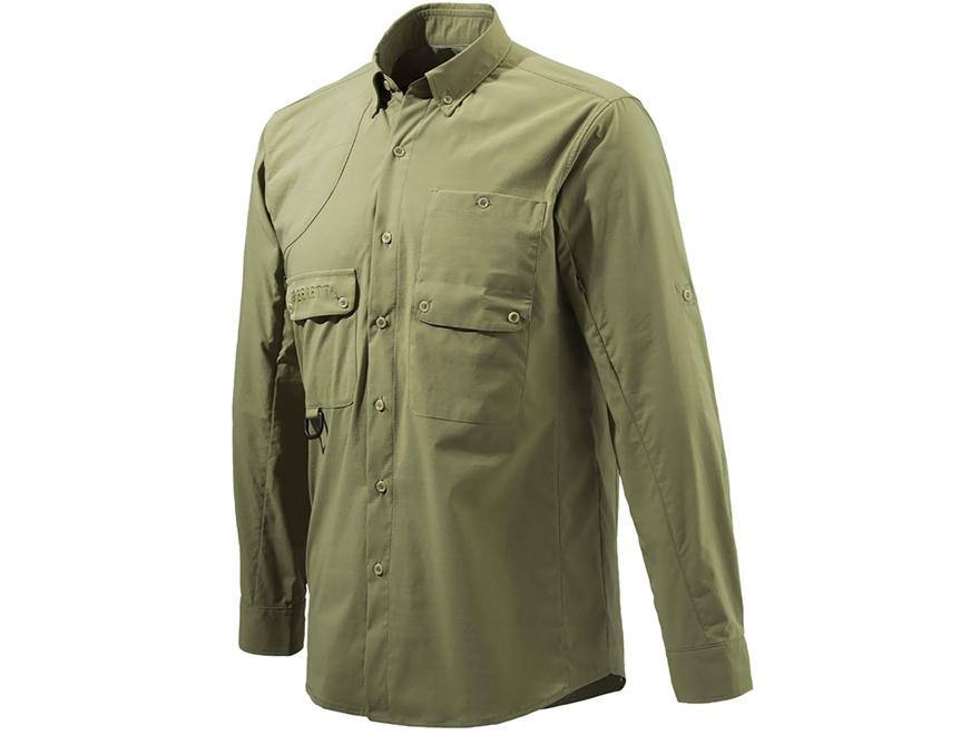 Beretta Men's Quick Dry Button-Up Shirt Long Sleeve Polyester