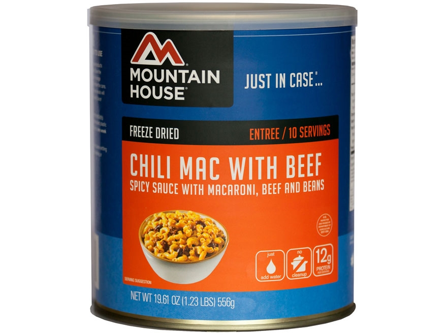 Mountain House 10 Serving Chili Mac with Beef Freeze Dried Food #10 Can