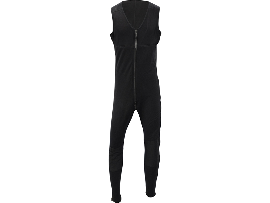 Military Surplus PowerStretch Mid-Weight One-Piece Sleeveless Union Suit Black