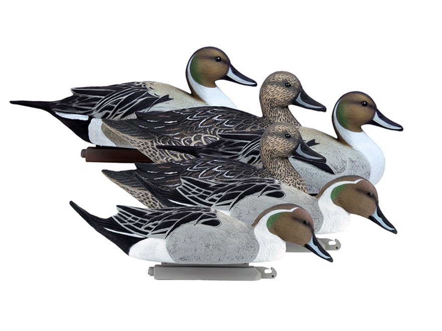 Higdon Battleship Foam Filled Pintail Duck Decoy Polymer Pack of 6